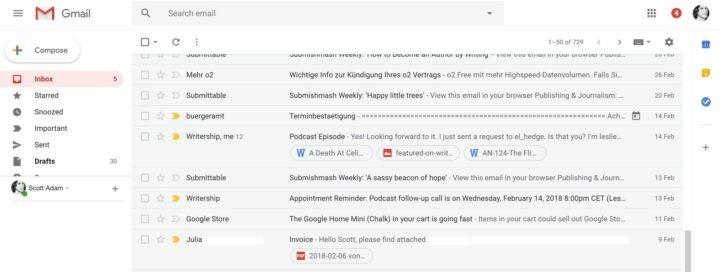 9 مميزات جديدة في تصميم ال Gmail الجديد 2