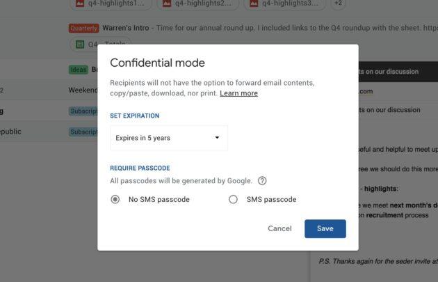 مميزات جديدة تصميم Gmail الجديد الوضع-السر�