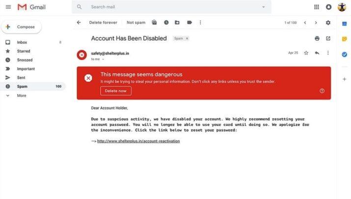 مميزات جديدة تصميم Gmail الجديد تحذيرات-أم�
