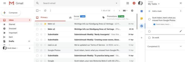 مميزات جديدة تصميم Gmail الجديد دمج-التطبي�