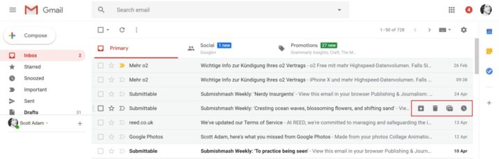 مميزات جديدة تصميم Gmail الجديد قائمة-الخص�