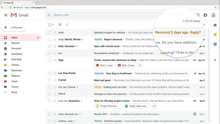 مميزات جديدة تصميم Gmail الجديد ميزة-التنب�