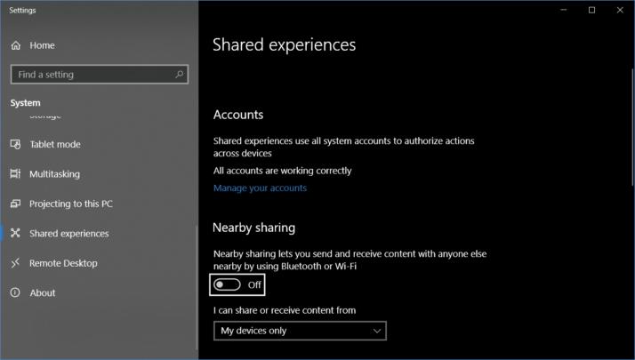 أفضل ميزات لتحديث ويندوز Windows ميزة-ال-nearby