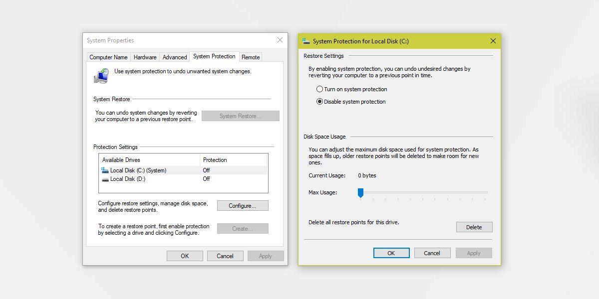 شرح نقطة استرجاع النظام backup في ويندوز 10شرح نقطة استرجاع النظام backup في ويندوز 10
