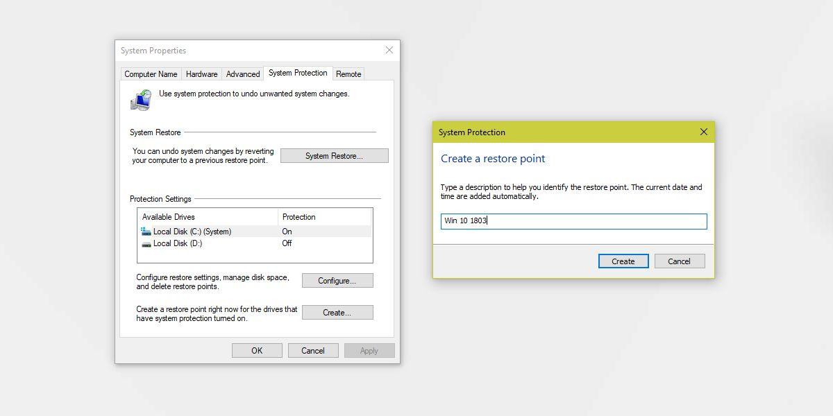 شرح عمل نقطة استرجاع النظام في ويندوز 10 وكيفية انشاء backup وكيفية استخدامه 1