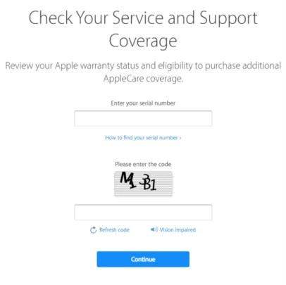 تحقق من توافر AppleCare على أجهزتك الخاصة 2