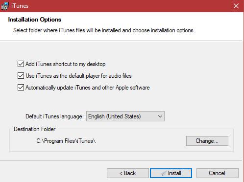تثبيت ITunes على Windows 10