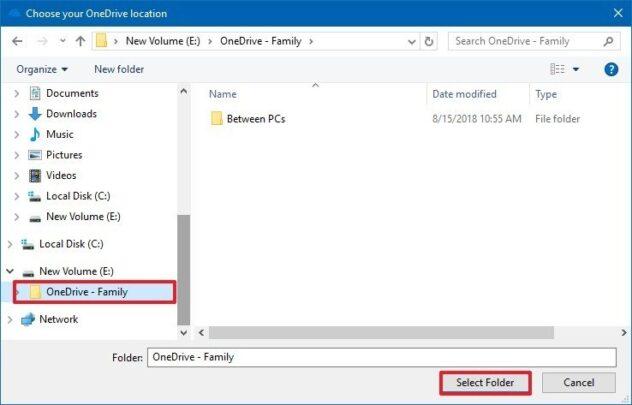 كيف تغير مكان مجلد OneDrive الإفتراضي على ويندوز Windows 10 10