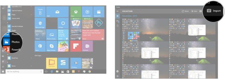 تطبيق الصور على Windows 10