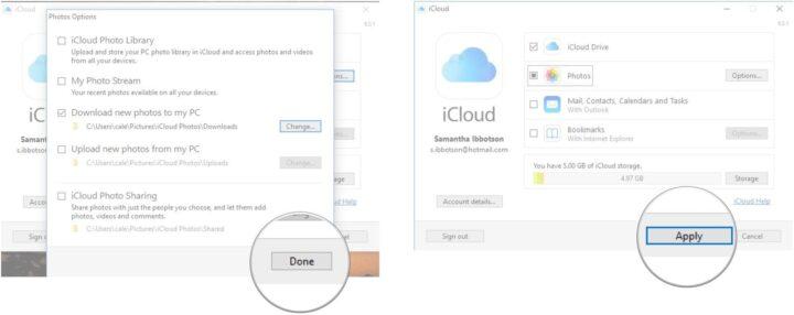 كيفية نقل الصور من جهازي IPad و IPhone الى جهاز بنظام Windows 10 6