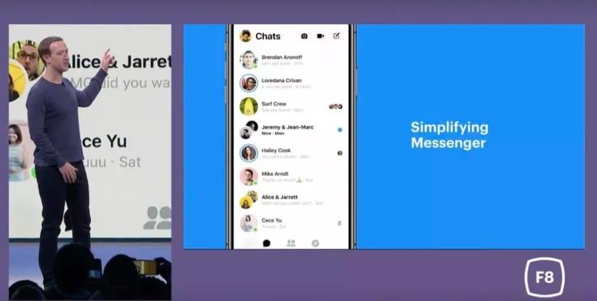 فيس بوك تعيد تصميم تطبيق المحادثات Messenger مع التركيز علي البساطة 1