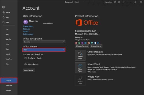 كيف تقوم بتغيير لون تطبيقات Microsoft Office الخاصة بك 2