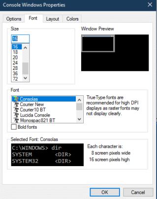 كيف تقوم بتخصيص نافذة Command prompt على Windows 10 4