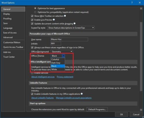 كيف تقوم بتغيير لون تطبيقات Microsoft Office الخاصة بك 8