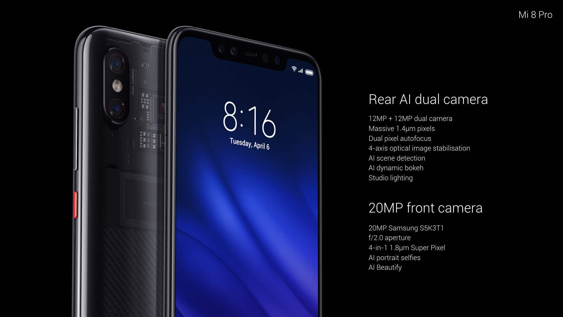 مواصفات هاتف Xiaomi Mi 8 Pro مع المميزات والعيوب والسعر 1