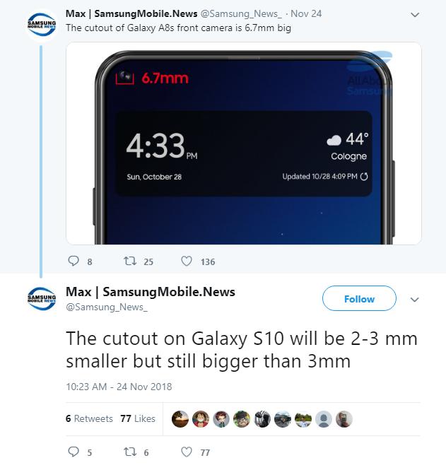 Galaxy S10 بتصميم مشابه لـA8s ؟ 2