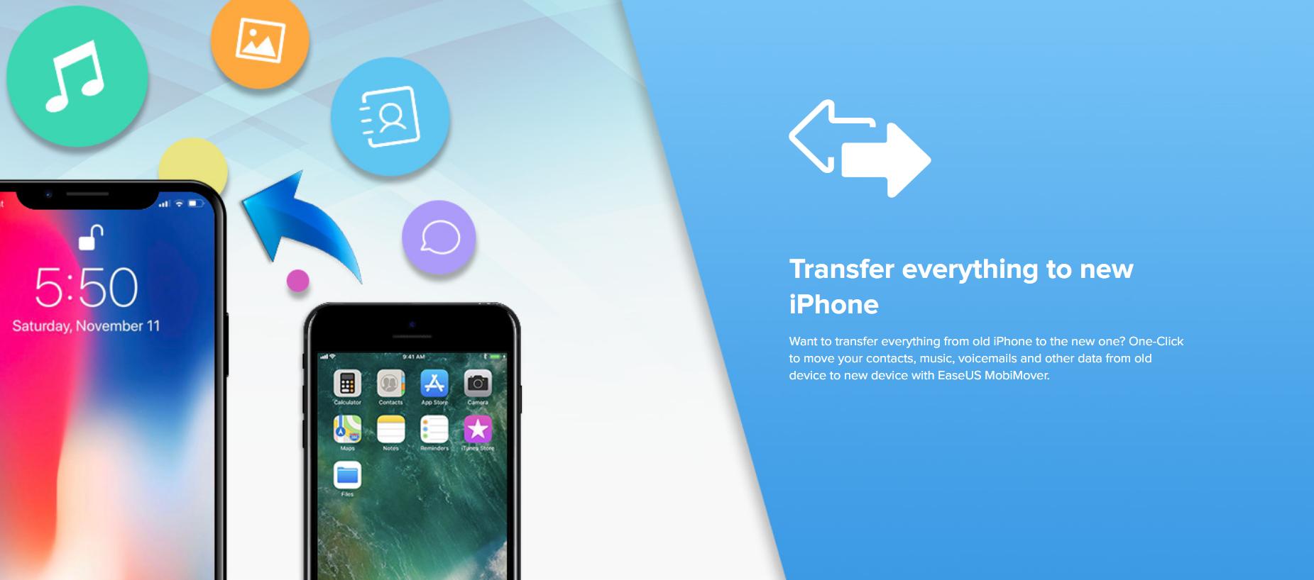 كيفية نقل البيانات من و الي هاتفك الـiPhone عن طريق Easeus Mobimover 6