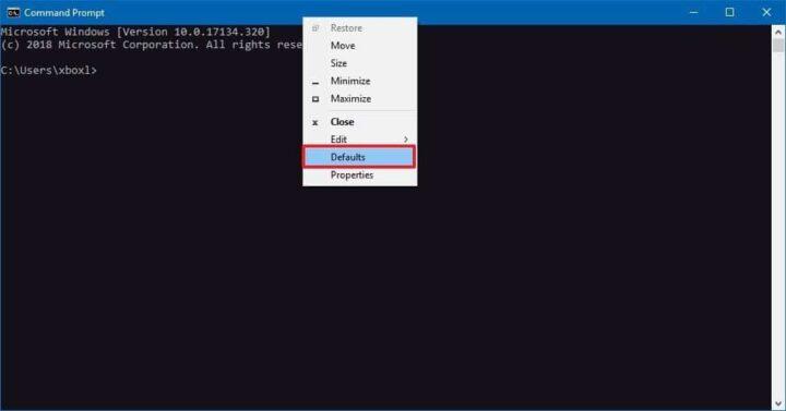 كيف تقوم بتخصيص نافذة Command prompt على Windows 10 2