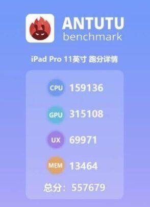 iPad Pro 2018 يتصدر قائمة الأجهزة علي منصة Antutu benchmark 2