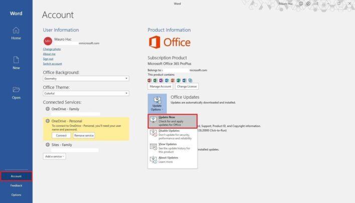 كيف تقوم بتثبيت تحديثات Microsoft Office بشكل يدوي على ويندوز 10 2