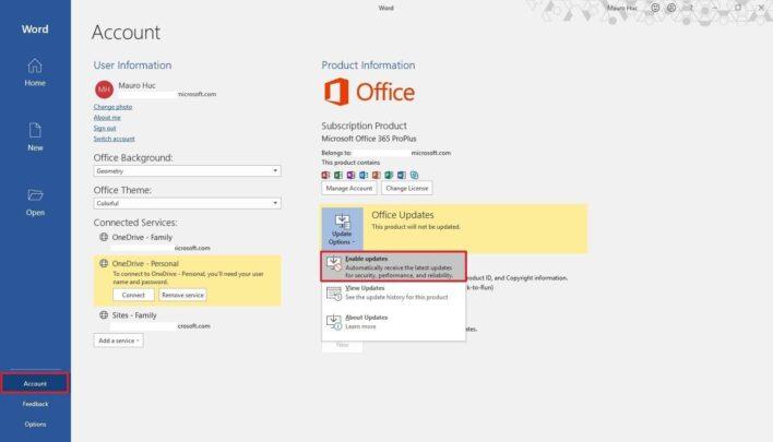 كيف تقوم بتثبيت تحديثات Microsoft Office بشكل يدوي على ويندوز 10 3