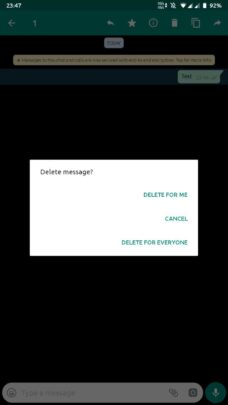 كيفية حذف رسائل whatsapp و Messenger بشكل نهائي 5