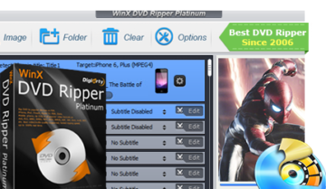 تحميل النسخة المجانية لبرنامج WinX DVD Ripper لنسخ أقراص DVD و تحويلها إلى صيغ مختلفة كثيرة