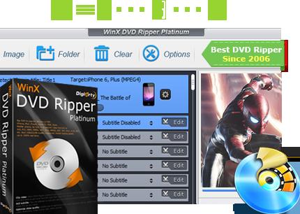 تحميل النسخة المجانية لبرنامج WinX DVD Ripper لنسخ أقراص DVD و تحويلها إلى صيغ مختلفة كثيرة 1