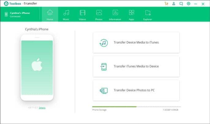 برنامج (iSkysoft Transfer (iOS لنقل المحتوى من الآيفون إلى الكمبيوتر بدون الآيتونز 2