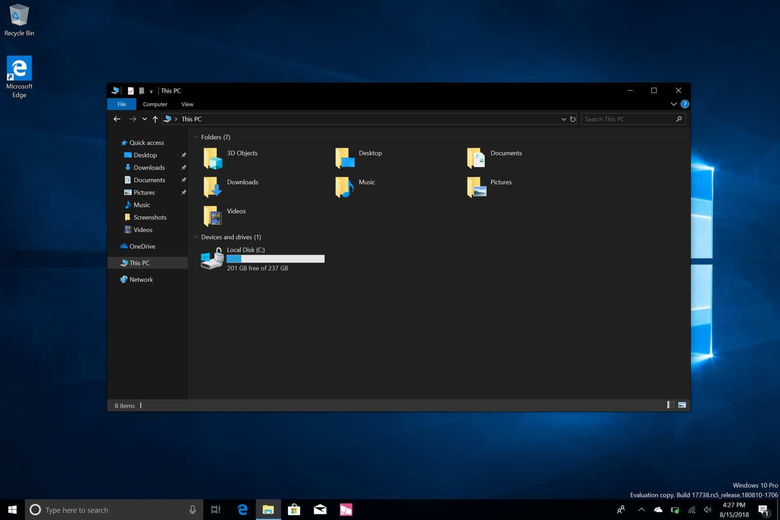 Windows 10 Dark