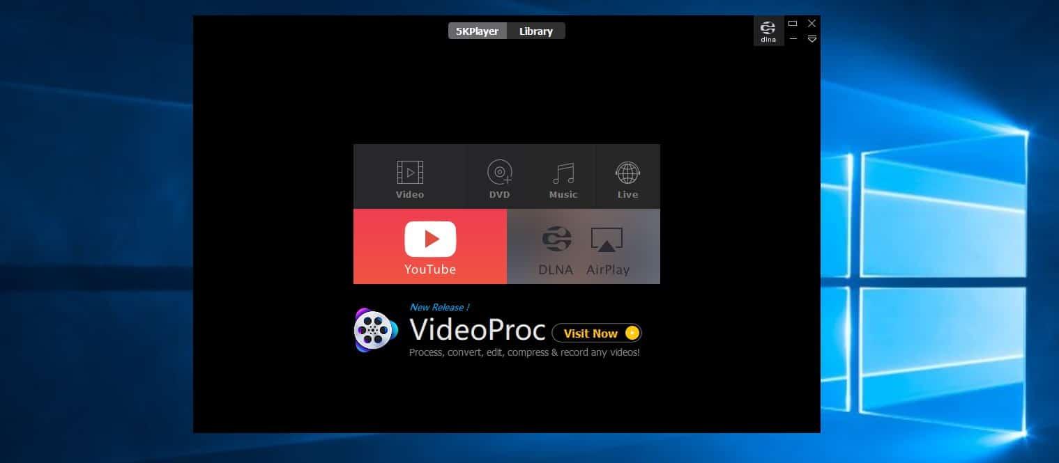 برنامج 5K player : أفضل برنامج مجاني لتشغيل الفيديو على ويندوز 10 و وماك 2