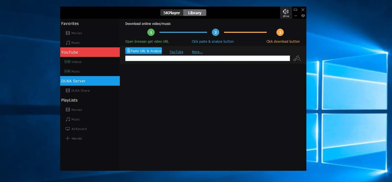 برنامج 5K player : أفضل برنامج مجاني لتشغيل الفيديو على ويندوز 10 و وماك 8