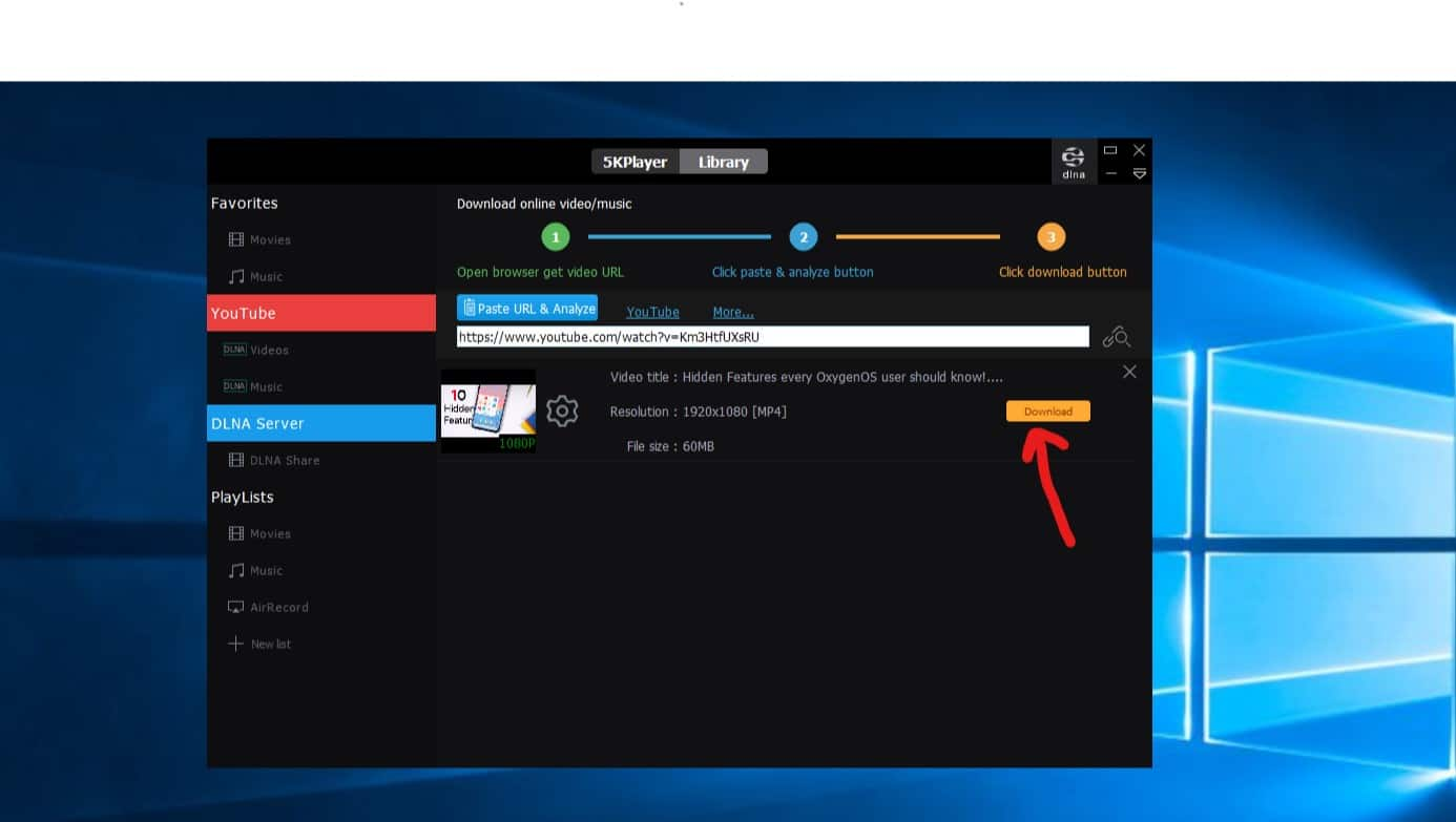 برنامج 5K player : أفضل برنامج مجاني لتشغيل الفيديو على ويندوز 10 و وماك 9