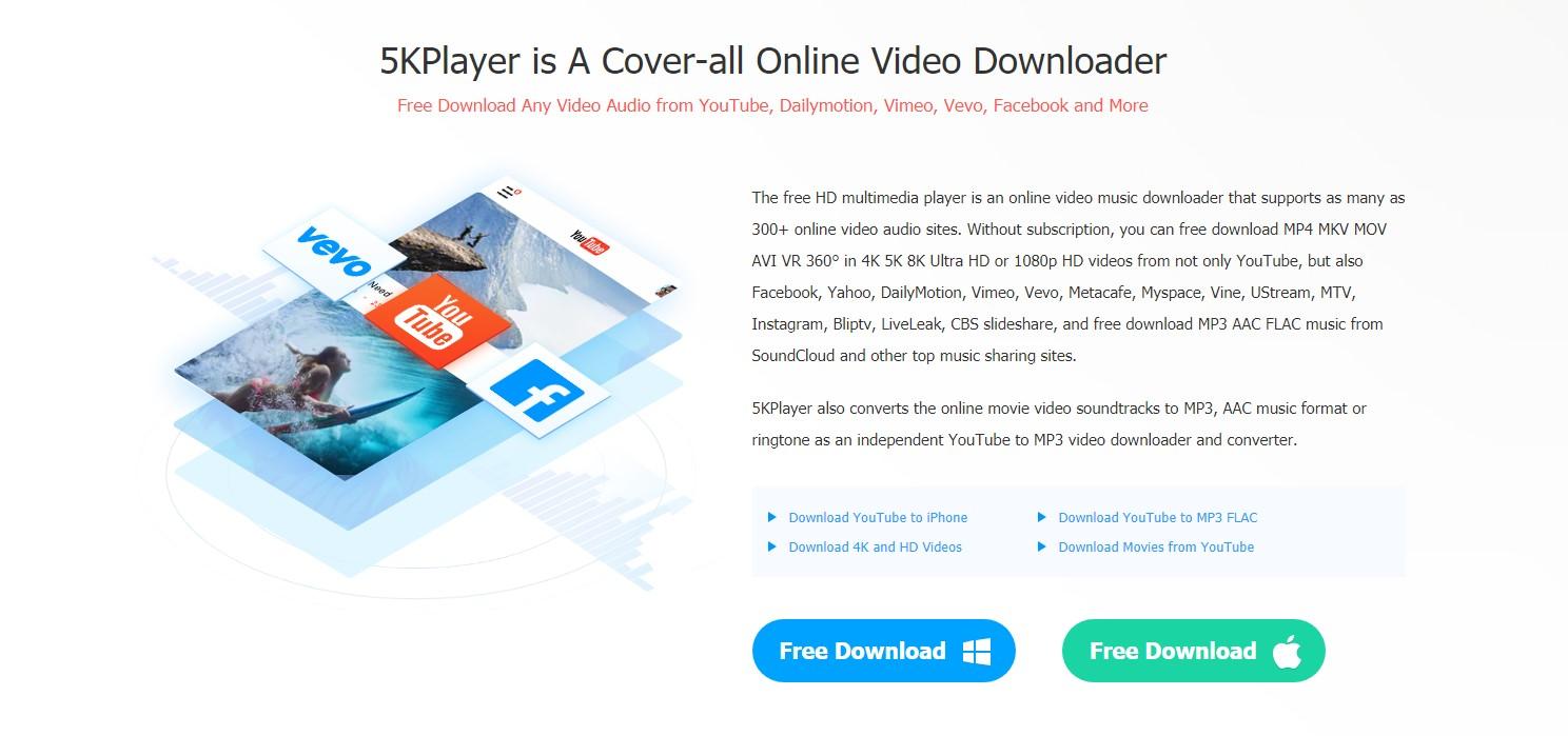 برنامج 5K player : أفضل برنامج مجاني لتشغيل الفيديو على ويندوز 10 و وماك 6