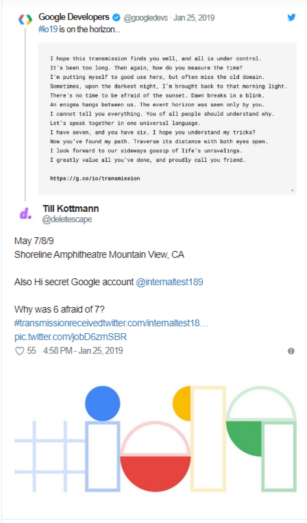 موعد مؤتمر Google I/O 2019 2