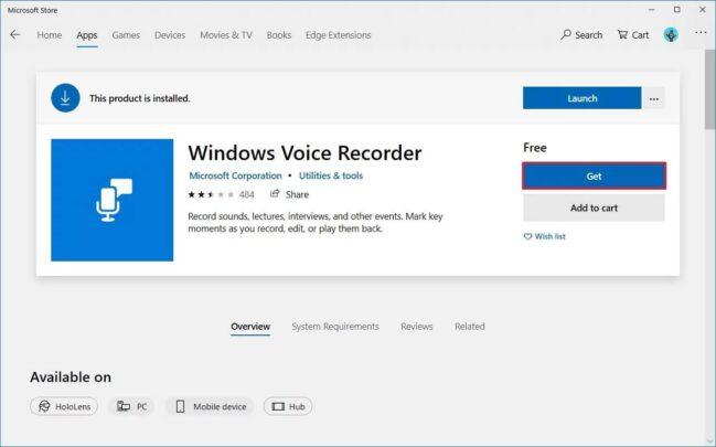 مسجل صوت Voice Recorder مجاني و خاص بنظام ويندوز Windows 10 مع الشرح 2
