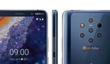 نشر أول صورة من كاميرا هاتف Nokia 9 2