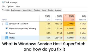 علاج مشكلة Windows Service Host Superfetch بشكل نهائي