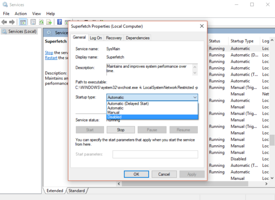 علاج مشكلة Windows Service Host Superfetch بشكل نهائي 5