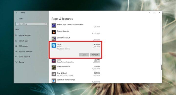 كيف تزيل برنامج Skype من نظام ويندوز 10 3