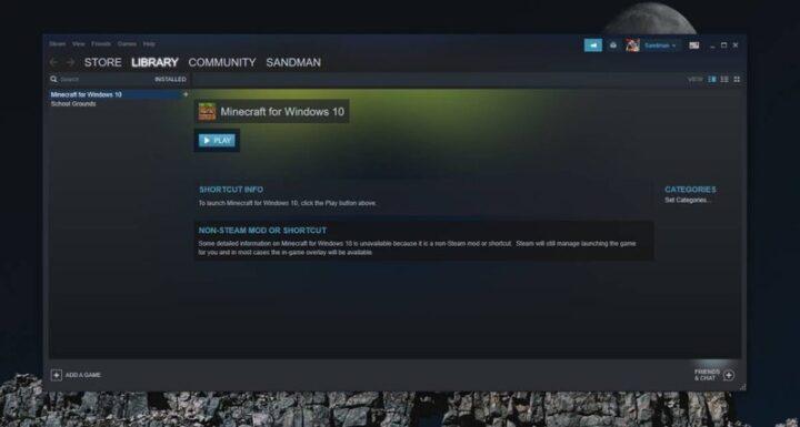 كيف يمكنك إضافة ألعاب متجر Windows إلى مكتبة Steam 3