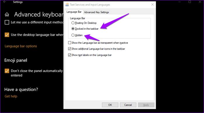 Language Bar مختفي على Windows 10 اليك الحل 11