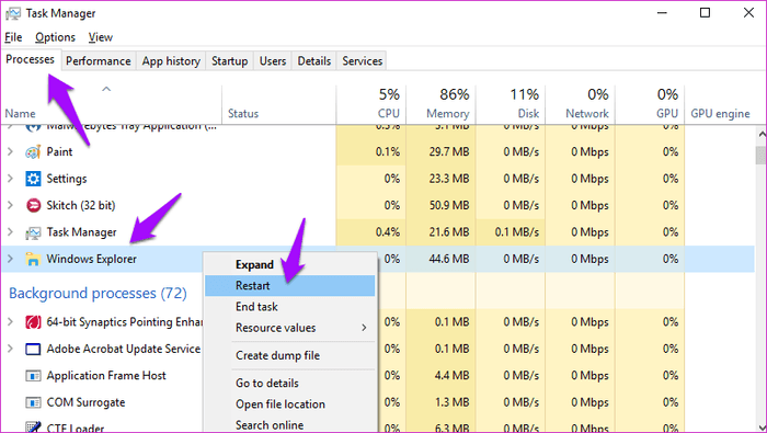 File Explorer لا يعمل او لا يستجيب بعض الحلول على Windows 4