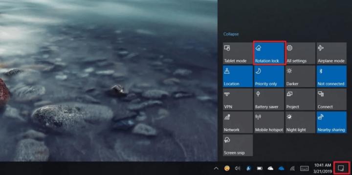 الغاء خاصية الدوران التلقائي Auto Rotation على نظام ويندوز Windows 10 2