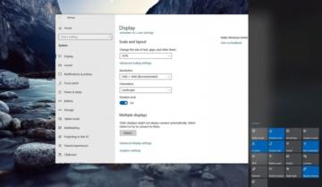 الغاء خاصية الدوران التلقائي Auto Rotation على نظام ويندوز Windows 10