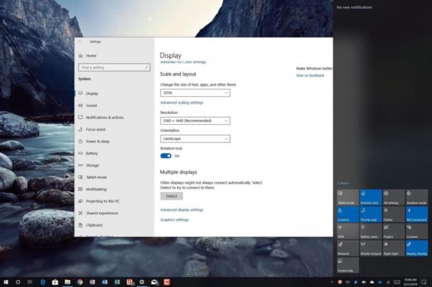 الغاء خاصية الدوران التلقائي Auto Rotation على نظام ويندوز Windows 10 1