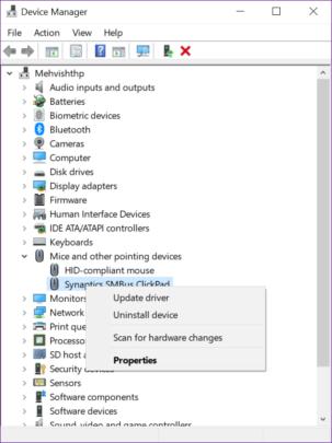 Synaptics TouchPad تعاني من اختفاء الإعدادات اليك طريقة الحل 4