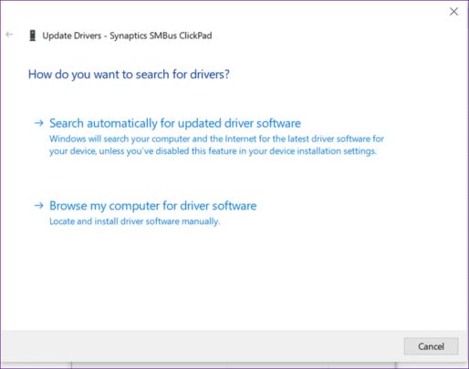 Synaptics TouchPad تعاني من اختفاء الإعدادات اليك طريقة الحل 5