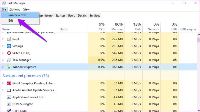 File Explorer لا يعمل او لا يستجيب بعض الحلول على Windows 5