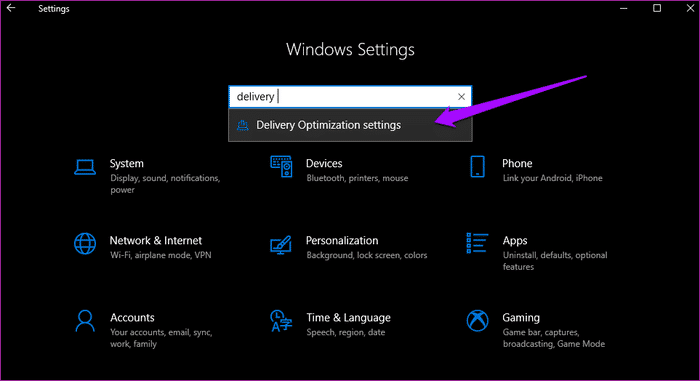 قم بتحديث نظام ويندوز Windows 10 مع سرعة إنترنت ضعيفة 2